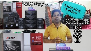 || F&D A-180X 2.1 Channel Speaker || Wireless || Bluetooth || USB || FM ||Unboxing|| Review ||