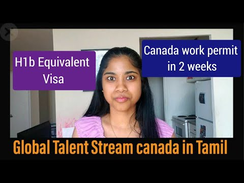 Canada Work Permit In 2 Weeks|Tamil|USA H1b Equivalent Visa|Global Talent Stream|Canada Immigration