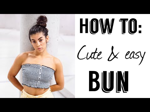 HOW TO PUT YOUR HAIR IN A BUN CUTE & EASY