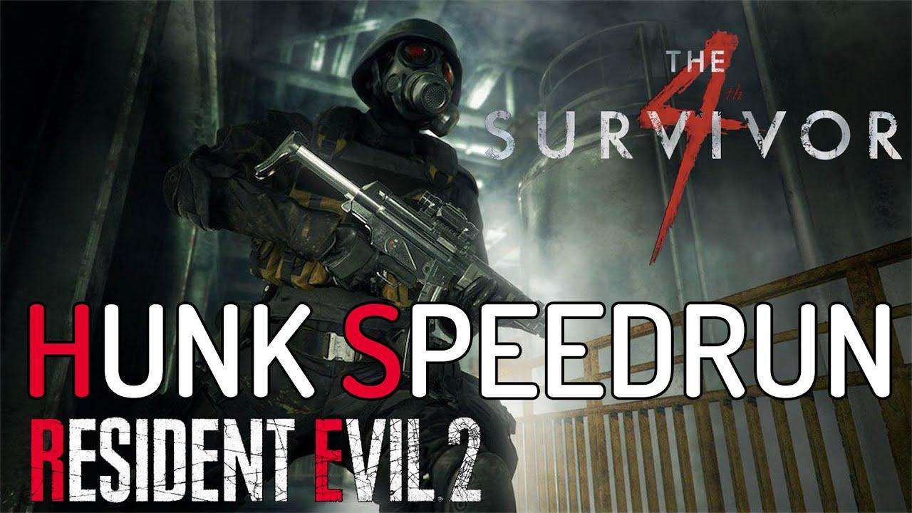 Resident Evil 2 Remake Speedrun Hunk 4th Survivor 7 54 Youtube