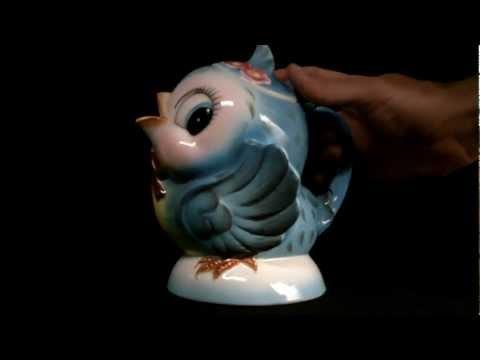 Lefton Bluebird Musical Teapot