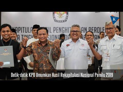 Detik-detik KPU Umumkan Hasil Rekapitulasi Nasional Pemilu 2019