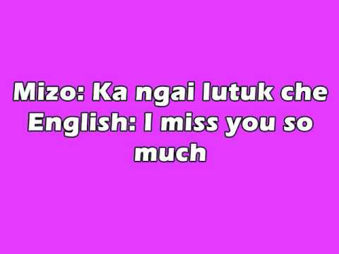 How To Say I Miss You So Much In Mizo Language Tutorial Youtube