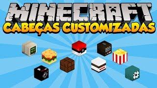 Minecraft: Como usar Cabeças Customizadas (Decoração - 1.7+)