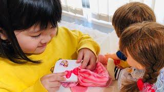 レミンちゃんソランちゃんおべんとう作りごっこ!ピクニックお料理ごっこ Pretend Play as a Remin Solan Lunch Box Toy