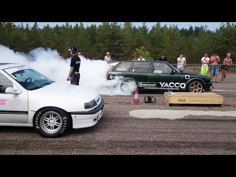 BMW E30 Touring M50 2.9t Vs Opel Vectra C20XE Turbo 1/4 Mile Drag Race
