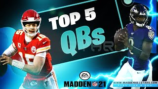 New Leaked Top Rated Quarterbacks in Madden 21