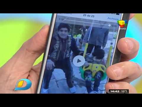Video Exclusivo: Don Diego, Maradona y Dieguito, juntos