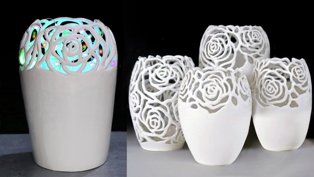 Easy Flower Vase making || Lighting corner vase with paper- পেপার দিয়ে ফুলদানি তৈরি দেখুন