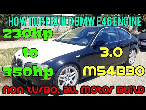 How to rebuild bmw e46 engine