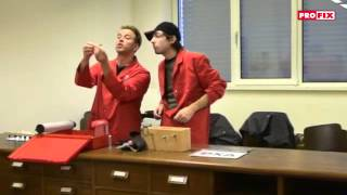 Cabaret-Duo Divertimento PRO + FIX - Messeauftritt bei der Profix AG