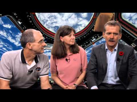 Astronauts and past space station crew members Catherine Coleman, Don Pettit, both from