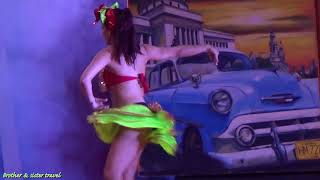 Amazing Girl in Mini Skirt Dancing in Latin Dance Exhibition After Cuban Dinner Private Video