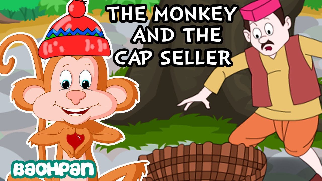 The Monkey and The Cap Seller Story | English Short Stories For Kids |  Bachpan Tube