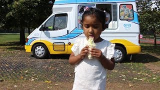 Ishfi Play with Ball & Had Vanilla Ice Cream at Recreation Ground for Children