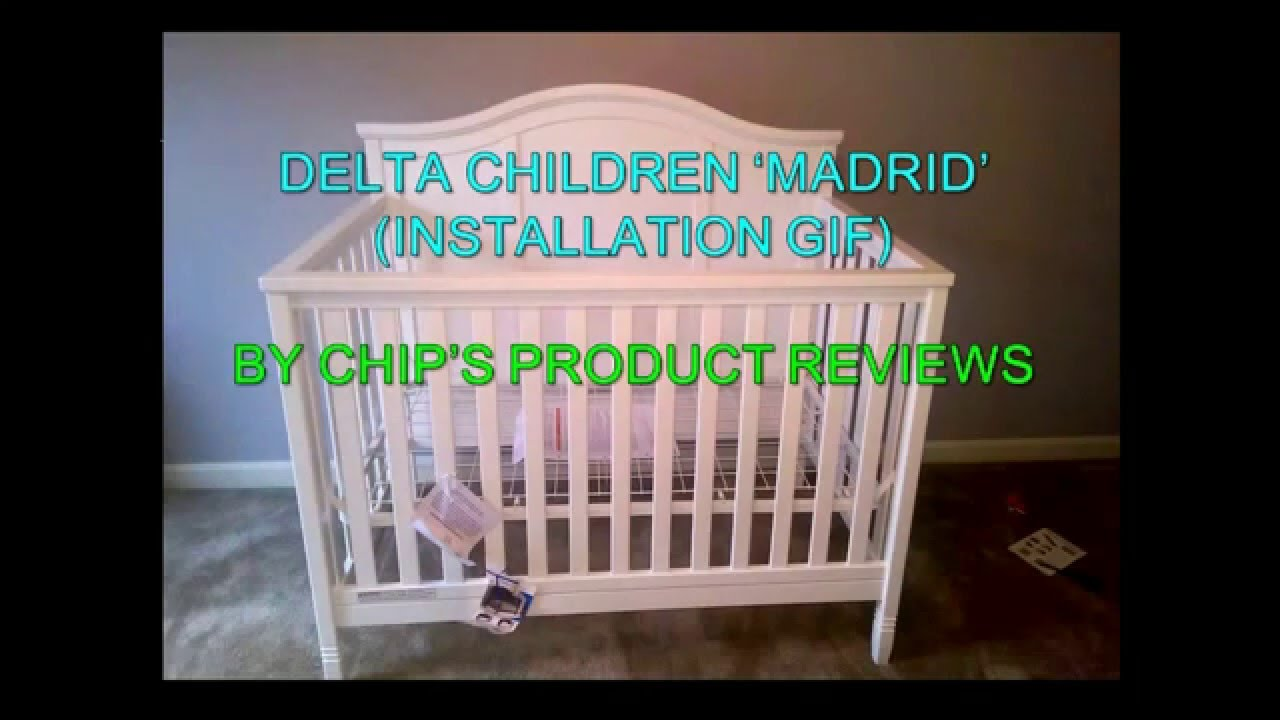 Delta Madrid 4 In 1 Convertible Crib Installation GIF
