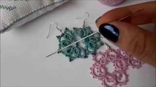 Needle tatting.Фриволите иглой для начинающих. Урок 1 Как делается двойной узел фриволите