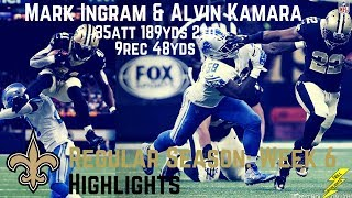 Mark Ingram & Alvin Kamara Week 6 Regular Season Highlights Duo! | 10/15/2017