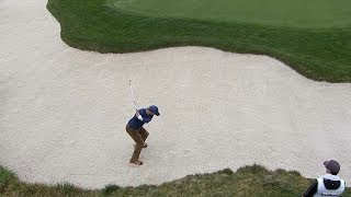 Peyton Manning almost holes bunker shot at AT&T Pebble Beach