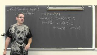 Implicit Differentiation Examples