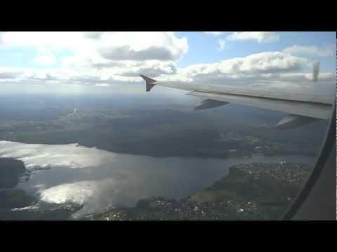 Aeroflot flight 1831 landing from Minsk, Belarus to Moscow, Russia