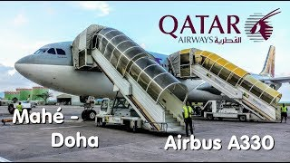 ✈FLIGHT REPORT | QATAR (Economy) | Seychelles - Doha | Airbus A330-300