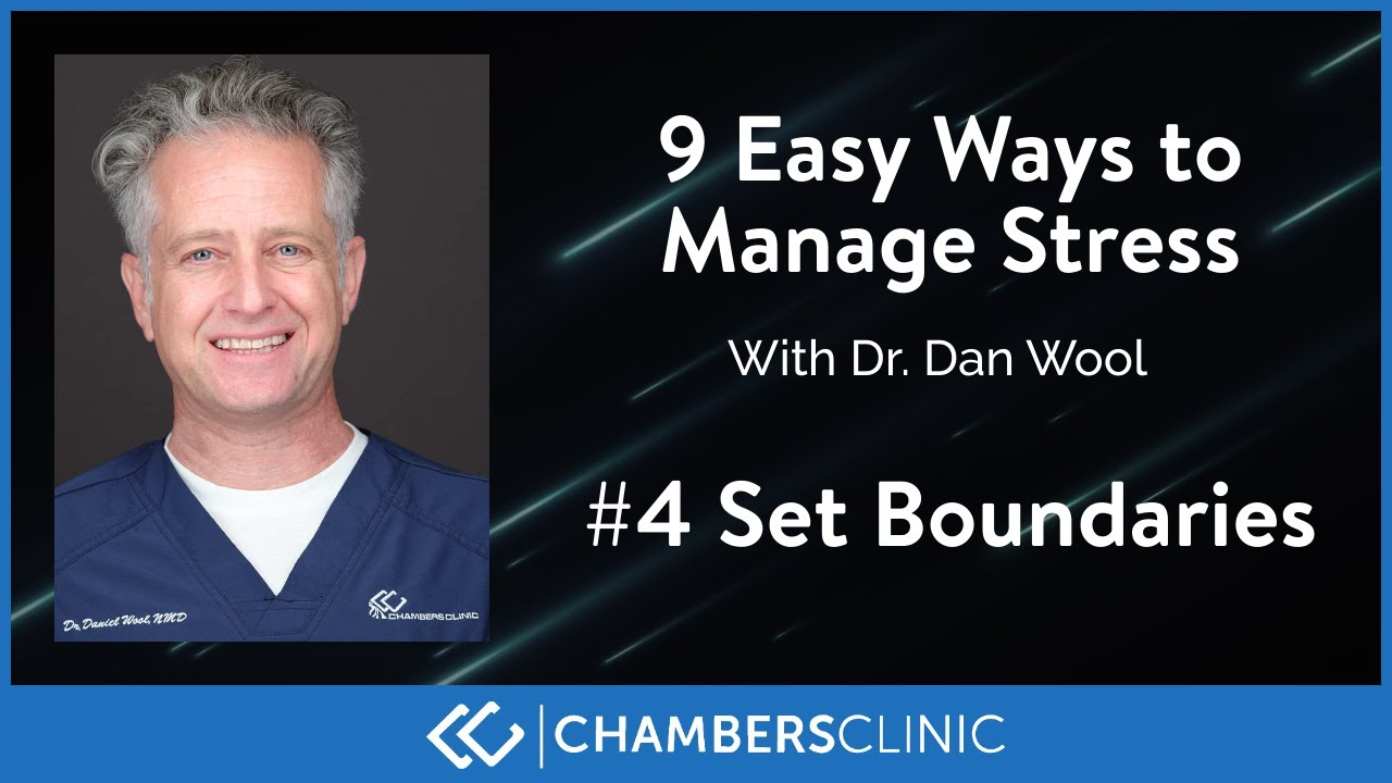 9 easy ways to reduce stress #4: Set boundaries
