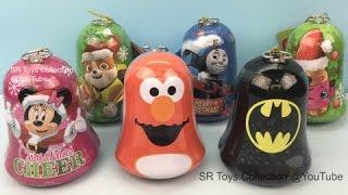 Elmo Minnie Mouse Paw Patrol Shopkins Thomas & Friends Batman Christmas Bells Surprise Toys For Kids