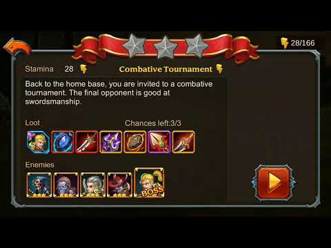 Heroes Charge Chapter 20 Elite 1-3 No Hero vip and 3 star