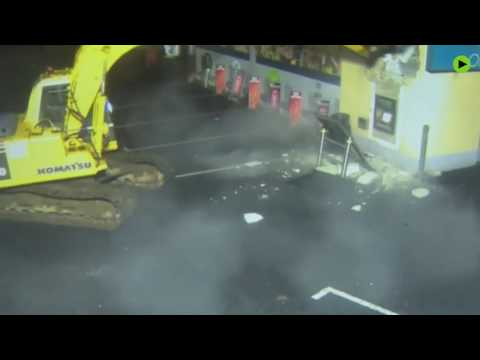 Big Rig - Thieves Use Big Digger To Steal ATM In Ireland
