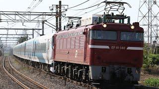 【配給輸送】 EF81-140+E257系9両 本庄~岡部通過
