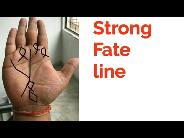 Strong fate line /Palmistry in Hindi