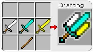 HOW TO CRAFT a TRIPLE SWORD of GOD? SECRET RECIPE *OVERPOWERED* (Minecraft 1.13 Crafting Recipe)