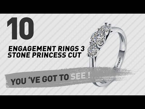 Engagement Rings 3 Stone Princess Cut Top 10 Collection
