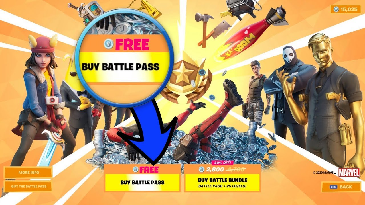 How To Get The Battle Pass For Free In Fortnite How To Get The New Battle Pass For Free Free Fortnite Chapter 2 Season 2 Battle Pass Youtube