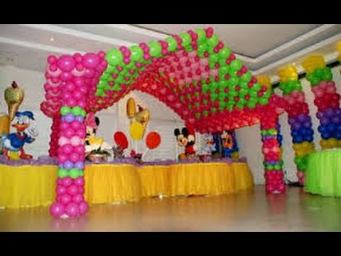 Como hacer decoraci n con globos youtube - Globos de decoracion ...