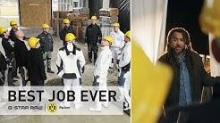 Patrick Owomoyela SURPRISE hard-working BVB-Fans   The Best Job Ever
