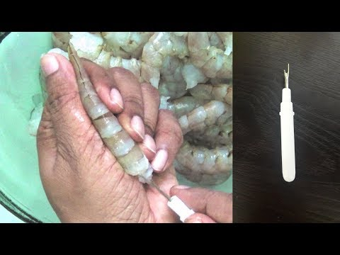 how to clean and cut prawns,  and deveining  with seam ripper,  tips and tricks