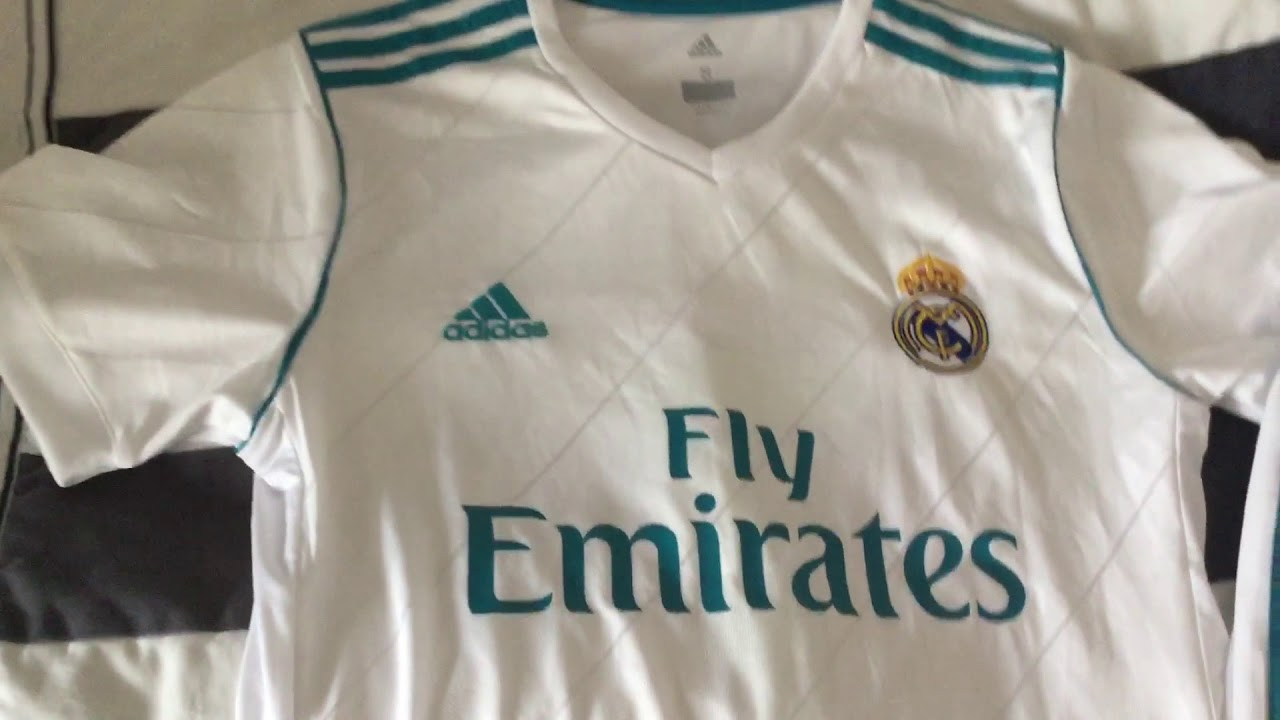 Edmondsoccershop.com - Real Madrid Kit 17 18 - Jersey Review - YouTube a3b6e2659daa0