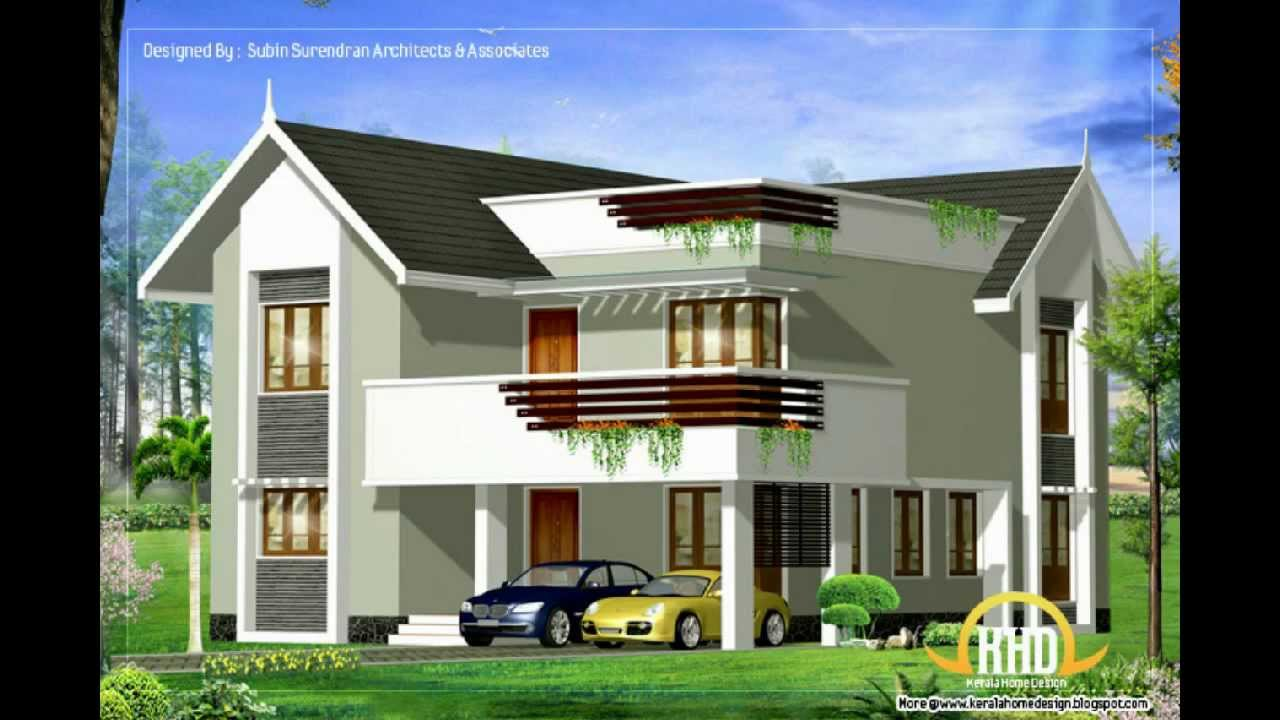 Architecture house plans compilation february 2012 youtube for Latest architectural house designs
