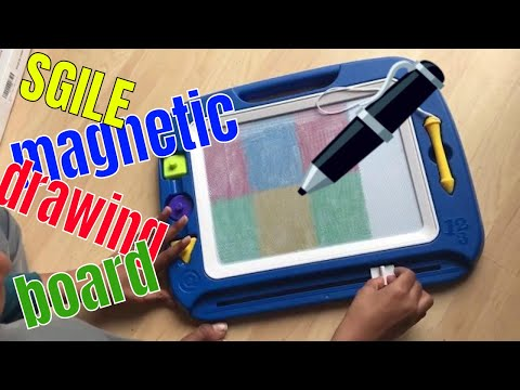 drawing-for-kids|-sgile-magnetic-drawing-board-learn-colors-tool-toys-review