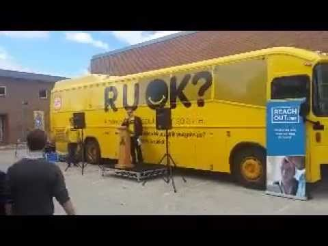 RUOK?DAY Big Yellow Bus Tour - Canberra 2014