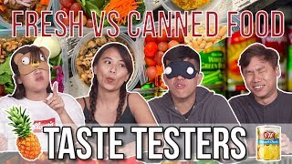 Fresh VS Canned Food   Taste Testers   EP 98