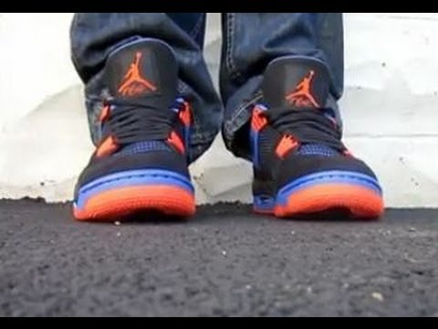 super popular 0ffe5 ca3c7 Air Jordan Cleveland Cav s   New York Knicks IV 4 Sneaker Review W   DjDelz  - YouTube