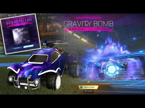 I Got New Interstellar And Gravity Bomb Black Markets On Rocket League Youtube