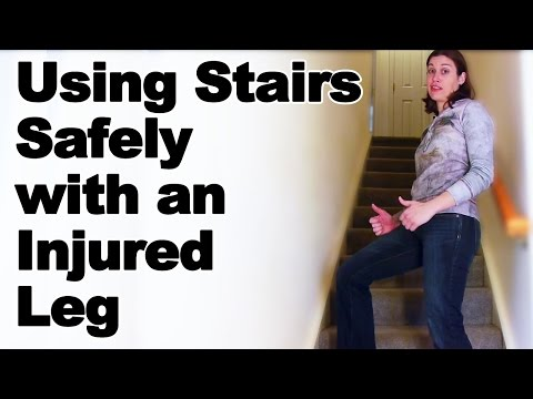 Going Up & Down Stairs Safely with an Injured Leg Ask Doctor Jo