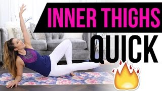 Gambar cover Quick Burn INNER THIGH Workout! Best Pilates Exercises for Lean & Toned legs!