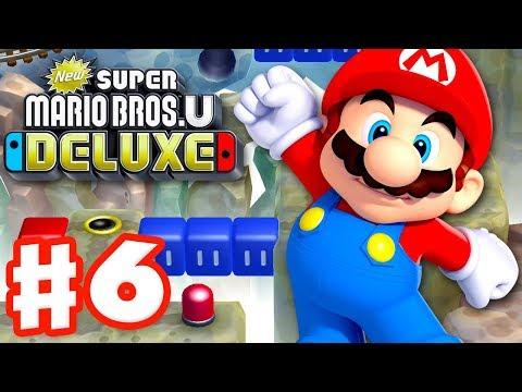 New Super Mario Bros U Deluxe - Gameplay Walkthrough Part 6 - Rock-Candy Mines! (Nintendo Switch)