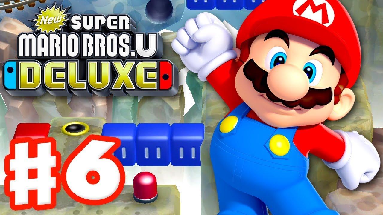 New Super Mario Bros U Deluxe Gameplay Walkthrough Part 6 Rock Candy Mines Nintendo Switch Youtube