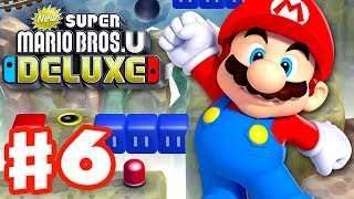 New Super Mario Bros U Deluxe - Gameplay Walkthrough Part 6 - Rock-Candy Mines! (Nintendo Switch)